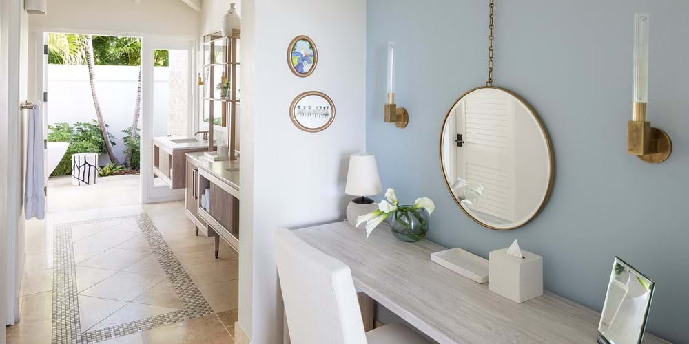 Pool suite vanity