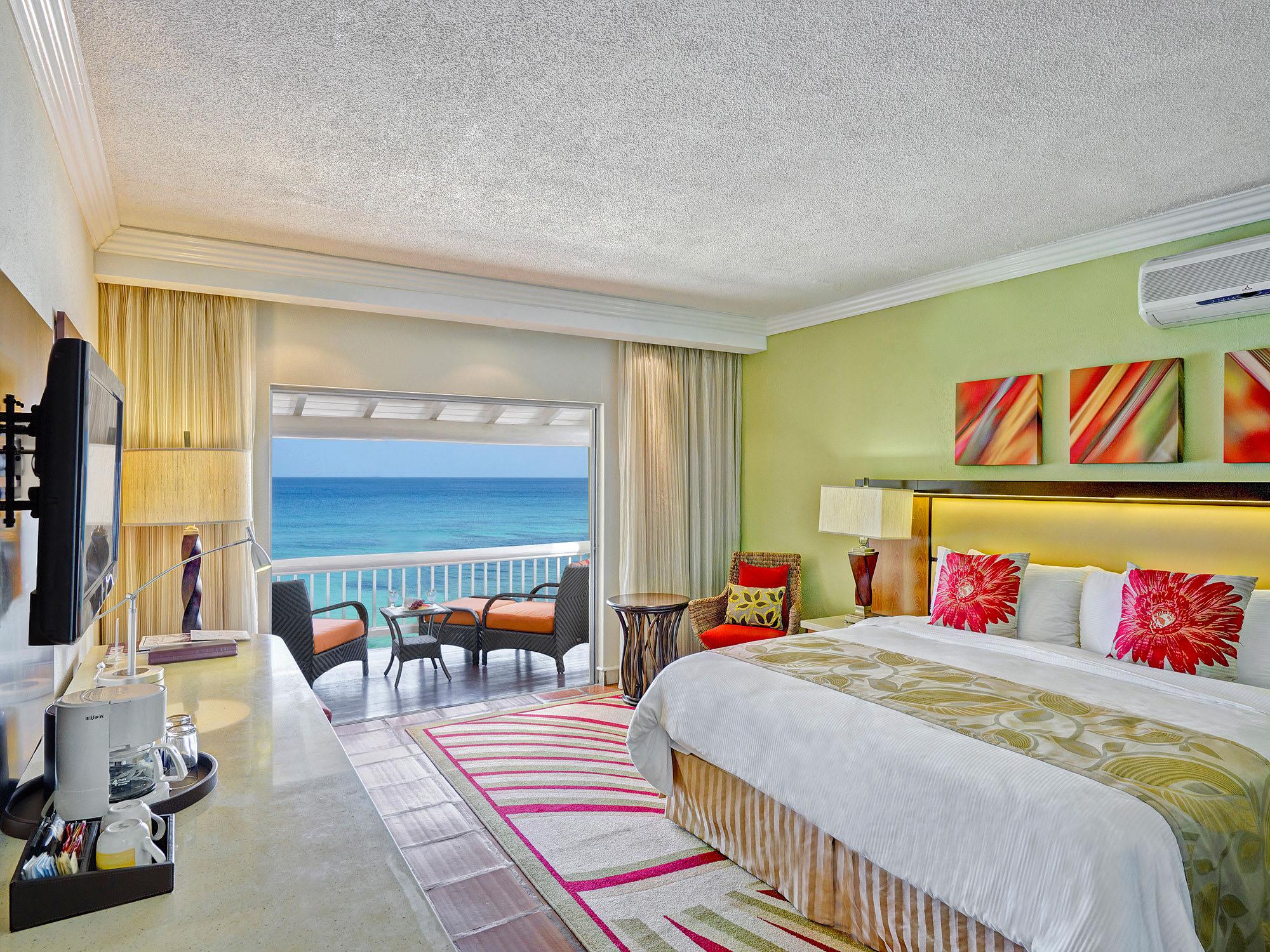 Ocean front room and amenities