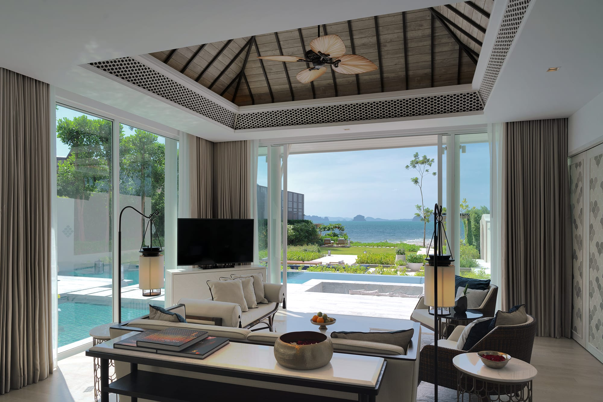 Presidential Beachfront Pool Villa Living Area