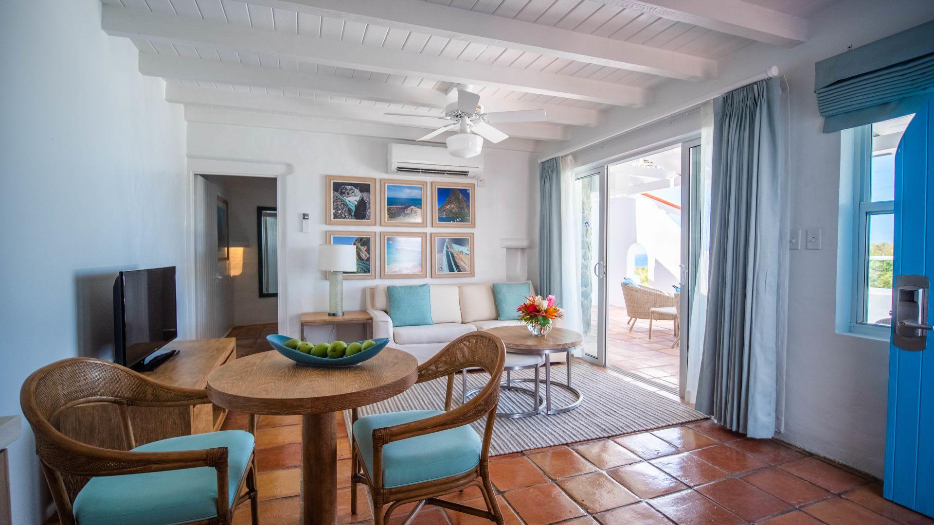One Bed Ocean View villa living