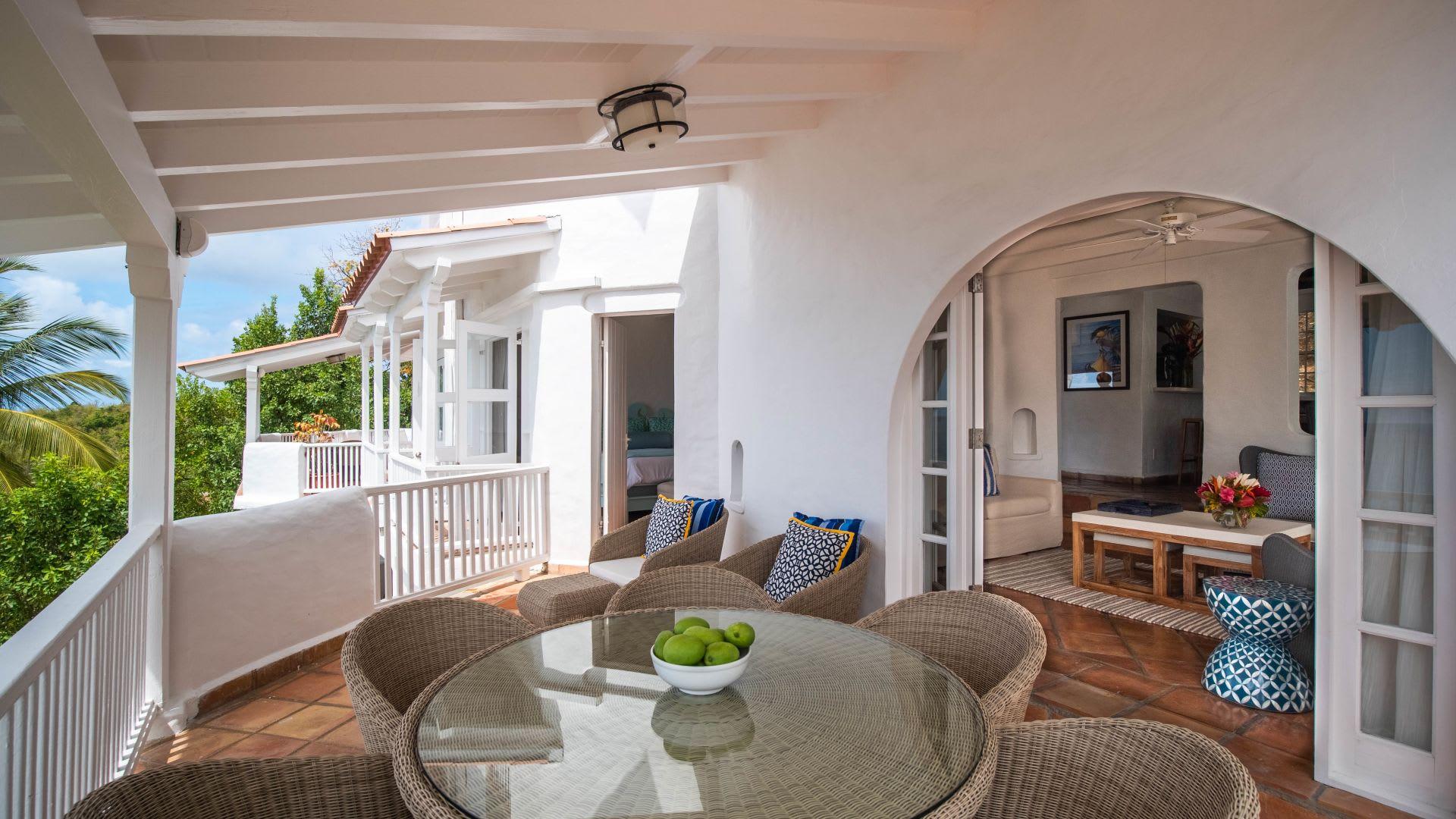 Premium Two Bed Villa balcony