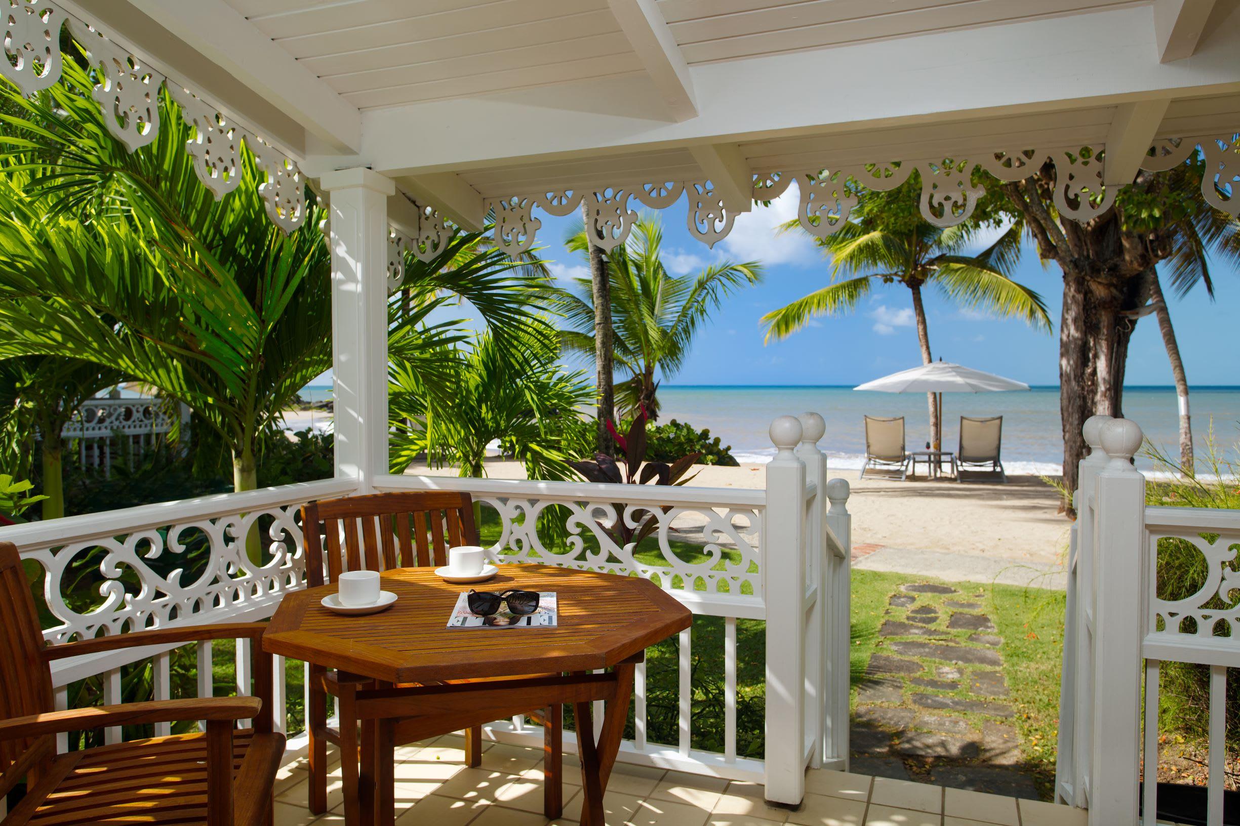 Beach cottage view