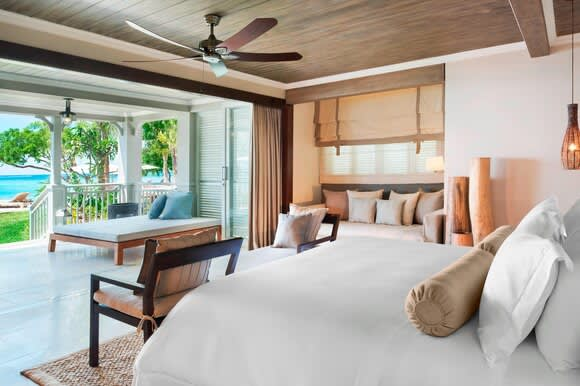 Beachfront St Regis Access bedroom and view
