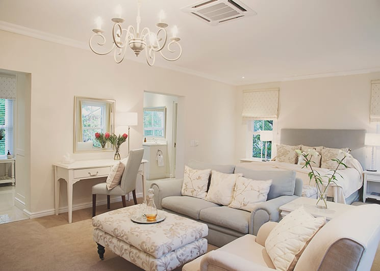 The Last Word Franschhoek Superior Room lounge