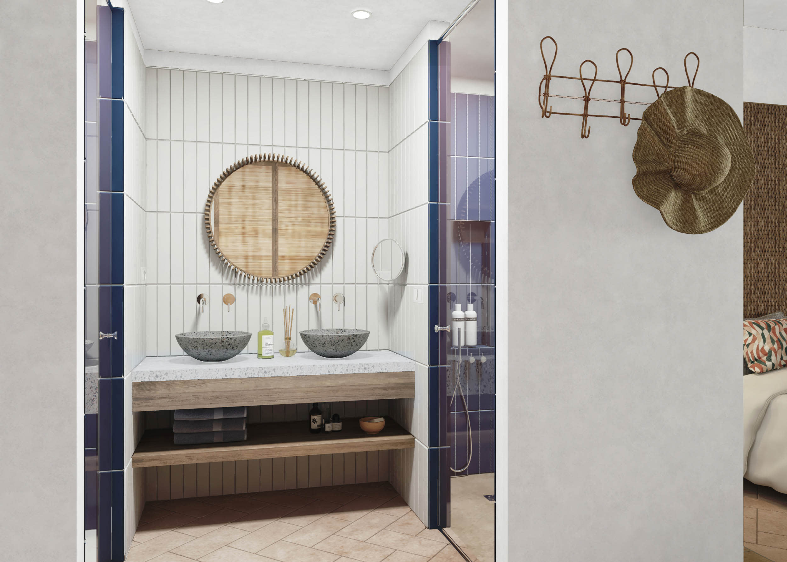 Double Garden View bathroom