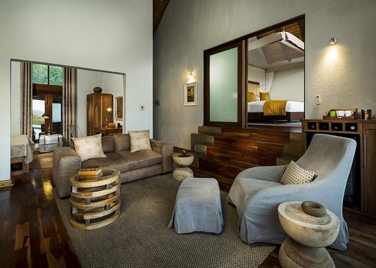 Ulusaba Rock Lodge Makwela Suite Lounge