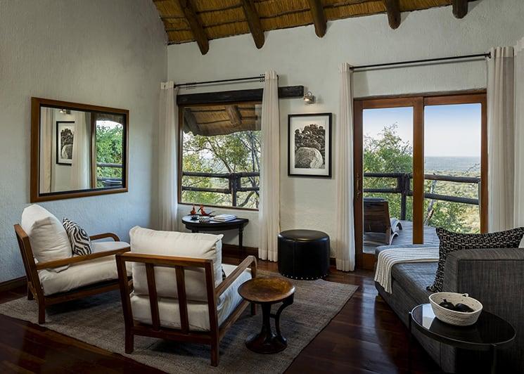 Ulusaba Rock Lodge Rock Suite Living Area