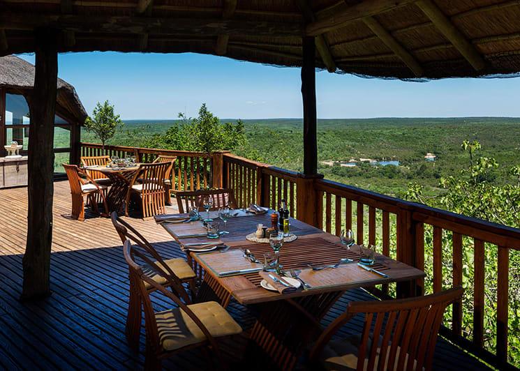 Ulusaba Cliff Lodge Deck Lunch