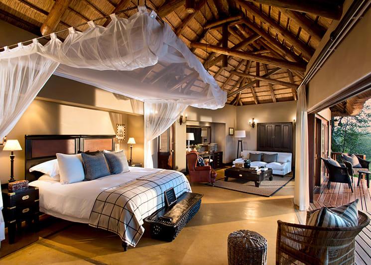 Lion Sands Tinga Lodge Tinga Suite Bed