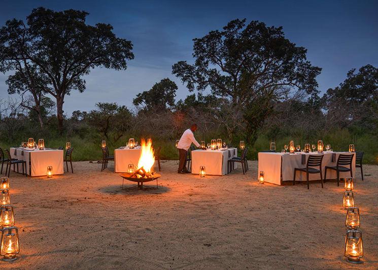 Lion Sands Narina Lodge Bush Dinner