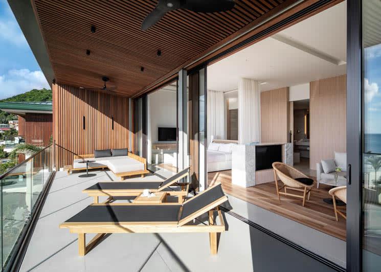 Silversands Grenada One Bedroom Suite Penthouse Open Floorplan