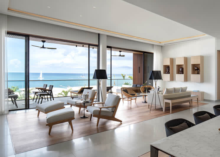 Silversands Grenada Penthouse Suite Living and Dining Area