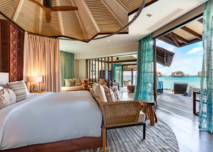 Ozen Reserve Bolifushi Ocean Pool Suite with Slide Master Bedroom