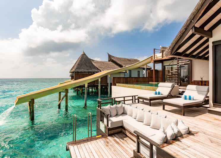 Ozen Reserve Bolifushi Ocean Pool Suite with Slide Outdoor Deck