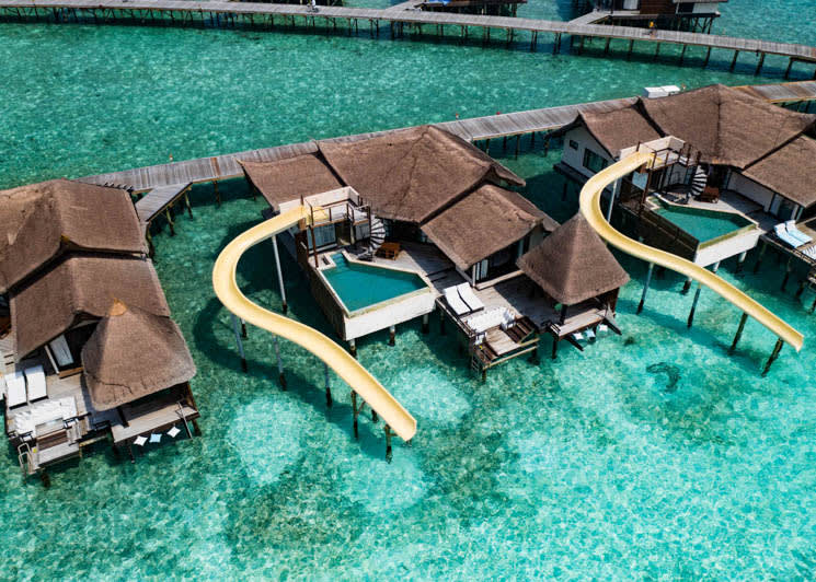 Ozen Reserve Bolifushi Ocean Pool Suite with Slide Aerial