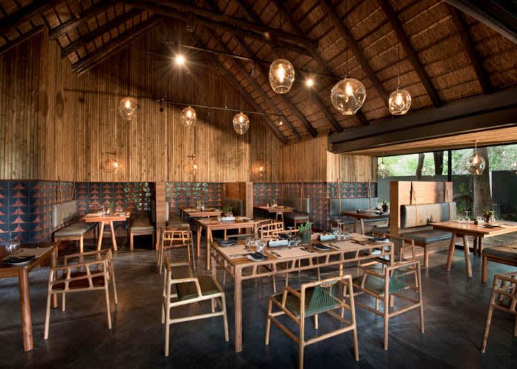 Lion Sands Ivory Lodge Guest Dining