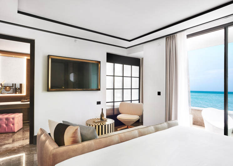 Bless Hotel Ibiza Studio Suite Bedroom Area