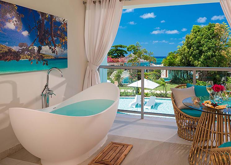 Sandals Montego Bay Crystal Lagoon Honeymoon Oceanview One Bedroom Butler Suite Bathroom