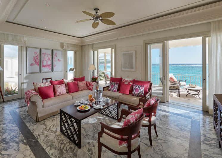 Mandarin Oriental Canouan One Bedroom Oceanview Penthouse Living Room