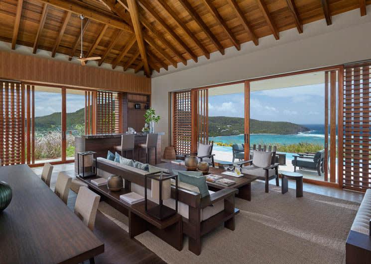 Mandarin Oriental Canouan Patio Villa Living Dining Room