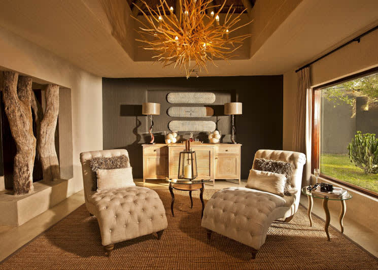 Sabi Sabi Bush Lodge Mandleve Suite Lounge