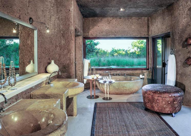 Sabi Sabi Earth Lodge Amber Suite Bathroom