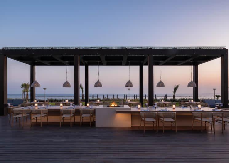 Amara Limassol Armyra Restaurant at Sunset