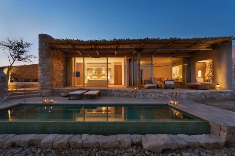 Panorama Pool Villa outdoor sunset