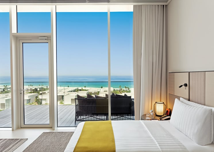 The Oberoi Al Zorah Premier Suite Bedroom