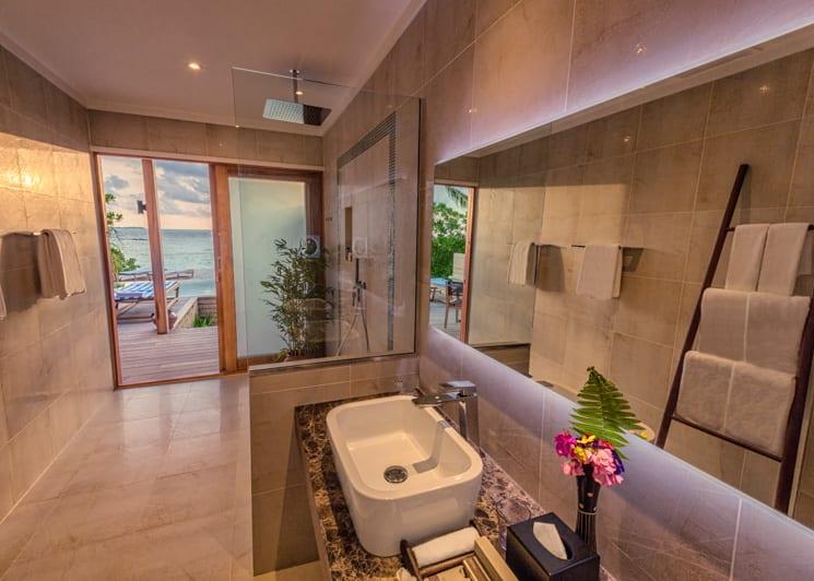 Hurawalhi Maldives Beach Pool Villa Bathroom 2