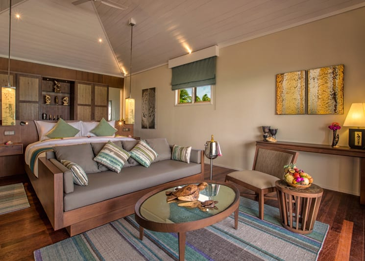 Hurawalhi Maldives Beach Villa Lounge