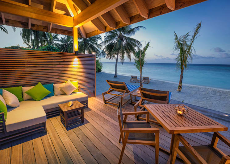 Hurawalhi Maldives Beach Villa Terrace
