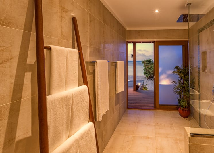 Hurawalhi Maldives Beach Villa Bathroom