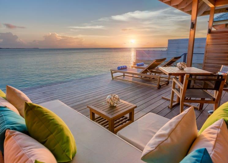 Hurawalhi Maldives Ocean Villa Terrace