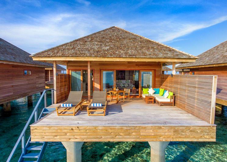 Hurawalhi Maldives Ocean Villa Exterior Terrace