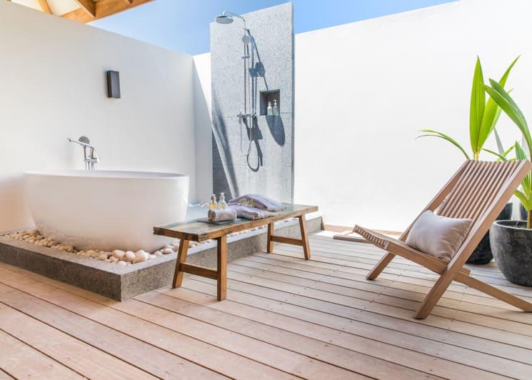 Kagi Maldives Spa Island Beach Pool Villa Outdoor Bathroom