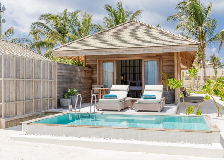Kagi Maldives Spa Island Beach Pool Villa Terrace Pool