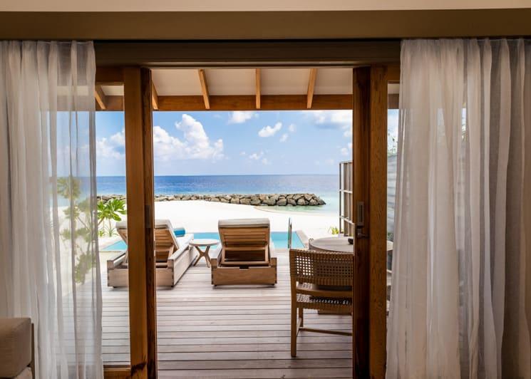 Kagi Maldives Spa Island Beach Pool Villa Terrace View