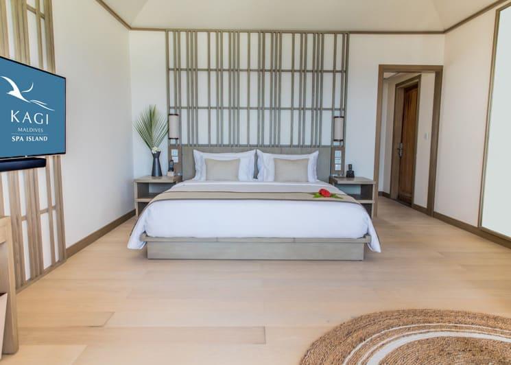 Kagi Maldives Spa Island Beach Pool Villa Bed