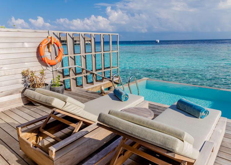 Kagi Maldives Spa Island Lagoon Pool Villa Terrace