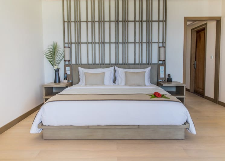 Kagi Maldives Spa Island Ocean Pool Villa Bedroom