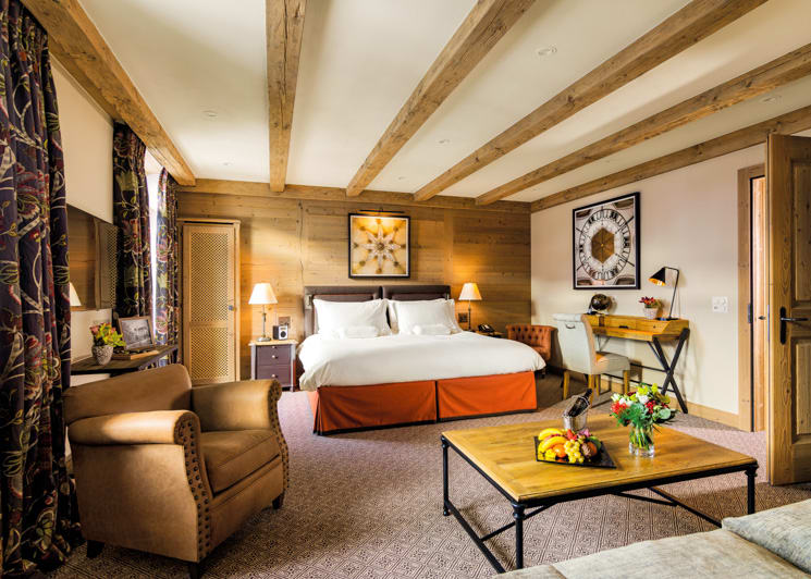 Gstaad Palace Alpine Suite Mountain View Bedroom