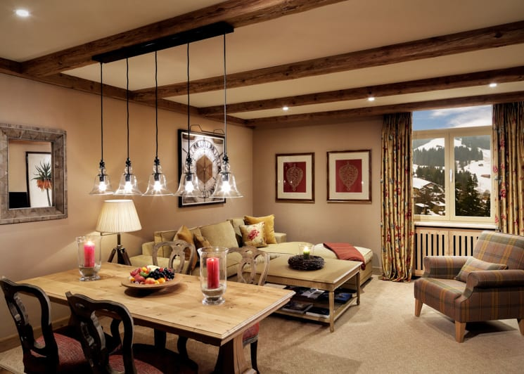 Gstaad Palace Deluxe Suite Mountain View Living Room
