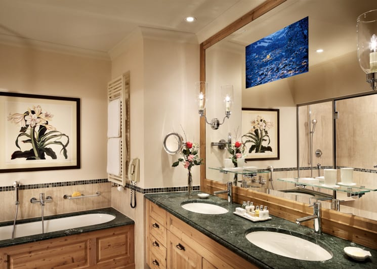Gstaad Palace Deluxe Suite Mountain View Bathroom