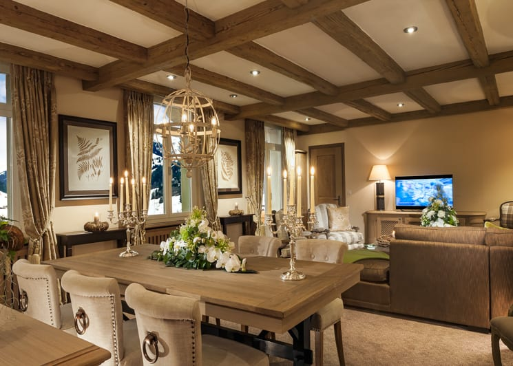 Gstaad Palace Tower Two Bedroom Suite Lounge