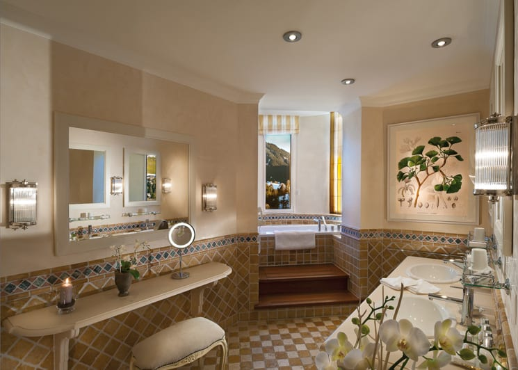 Gstaad Palace Tower Two Bedroom Suite Bathroom