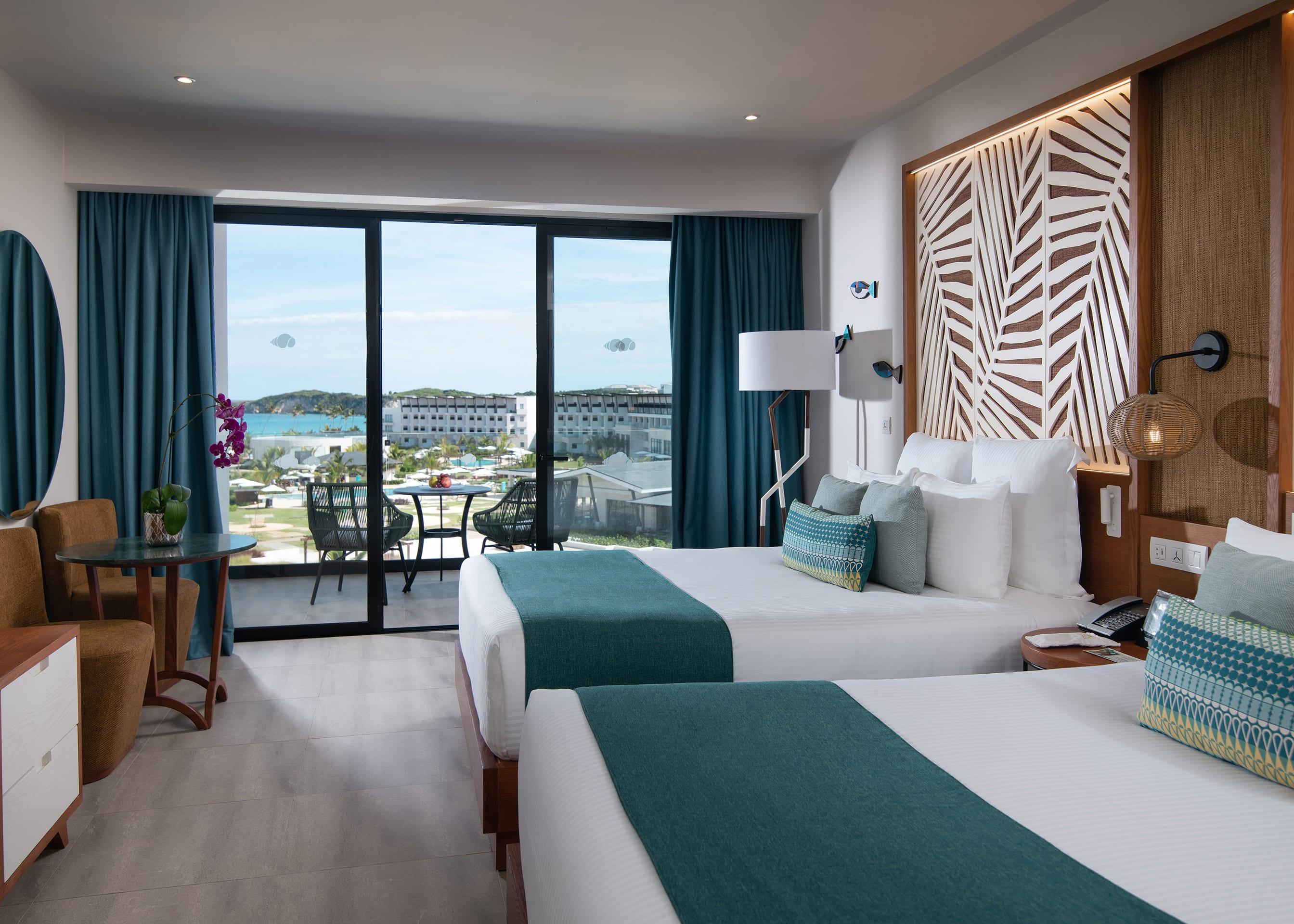 Preferred Club Junior Suite Partial Ocean View Double Beds