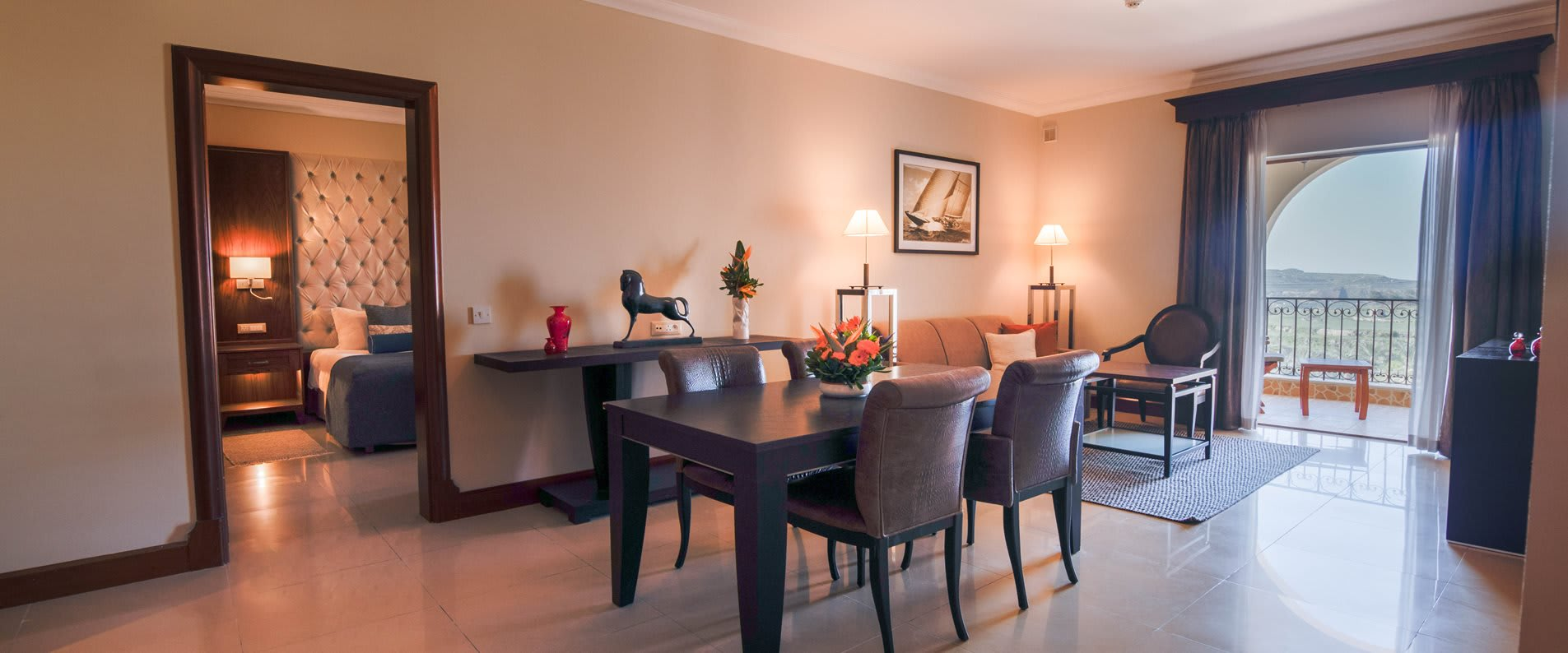 2 bedroom family suite dining table