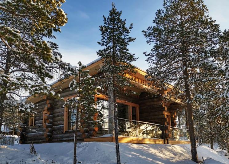 Nangu panorama log cabin