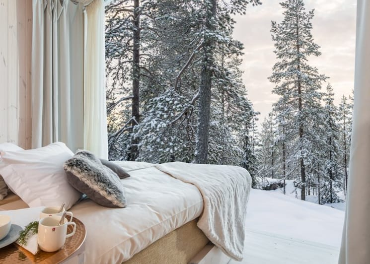 Arctic TreeHouse Hotel Suite Bedroom